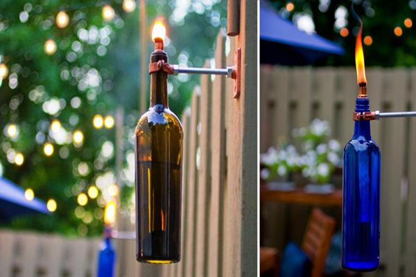 Wine-Bottle-Crafts-for-DIY-Decor-Wine-Bottle-Tiki-Torches