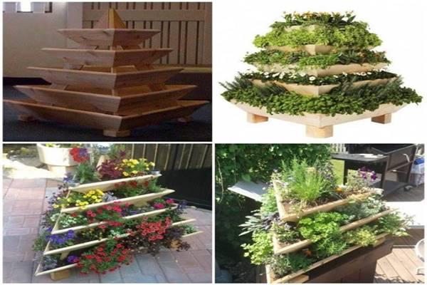 Függőleges kert ötletek, piramis kertek - Tudasfaja.com