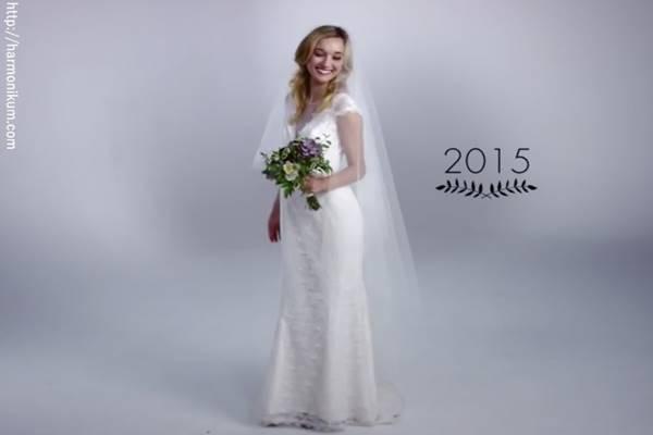 Így változtak meg a menyasszonyi ruhák az elmúlt 100 évben ... 765a3332ad