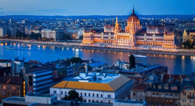 Budapest bemutatása egy gyönyörű timelapse videón