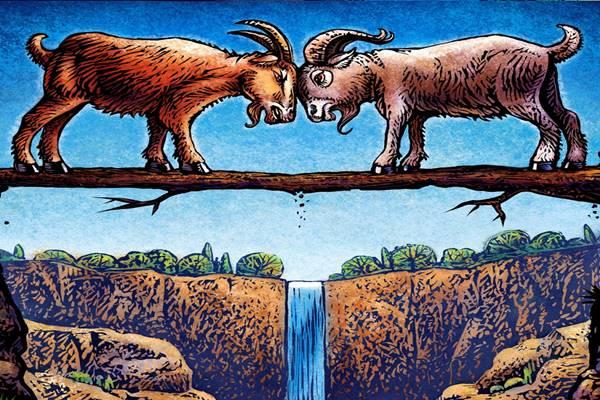 2 kecske megy a hidon