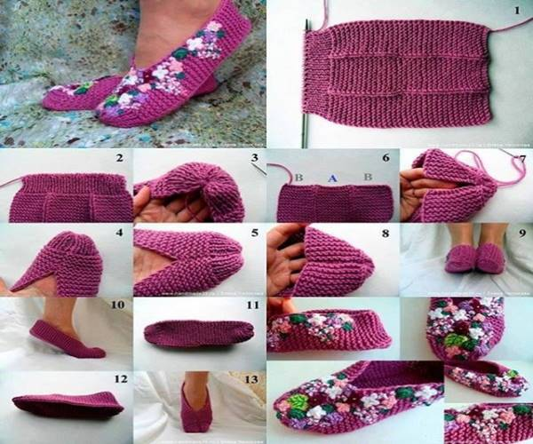 Zseniális! Így készíts szoba papucsot egy régi pulóverből!