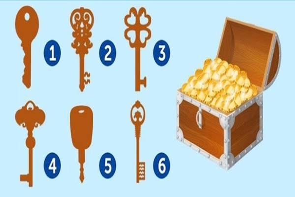 Te melyik kulccsal nyitnád ki ezt a kincsesládát? Választásod meglepő dolgokat árul el!